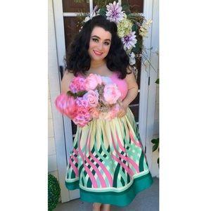 VooDoo Vixen Sabrina Watermelon Pink Dress XXL NWT
